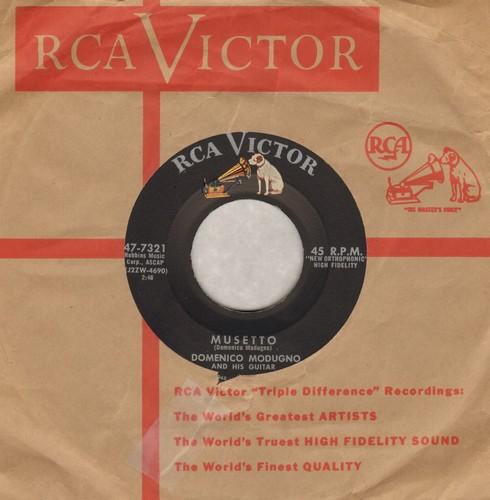 Modugno, Domenico - Musetto/Io Mammenta E Tu (with vintage RCA company sleeve) - NM9/ - 45 rpm Records