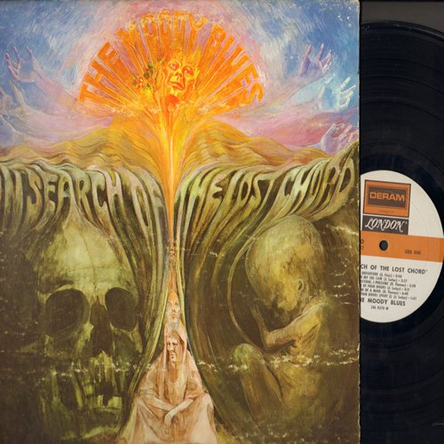 Moody Blues - In Search Of The Lost Chord: Voices In The Sky, Visions Of Paradise, Dr. Livingstone I Presume, Departure, The Actor, The Best Way To Travel (vinyl STEREO LP record, gate-fold cover) - EX8/VG6 - LP Records
