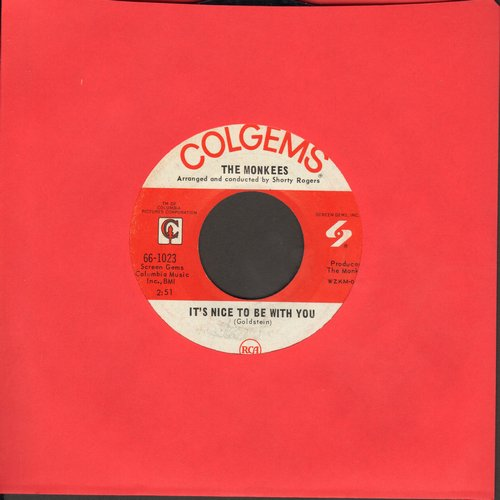 Monkees - D. W. Washburn/It's Nice To Be With You - EX8/ - 45 rpm Records