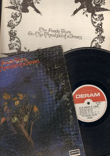 Moody Blues - On The Threshold Of A Dream - Vinyl STEREO LP record, gate-fold cover first pressing with BONUS 12 x 12 inch lyrics booklet! - NM9/VG6 - LP Records