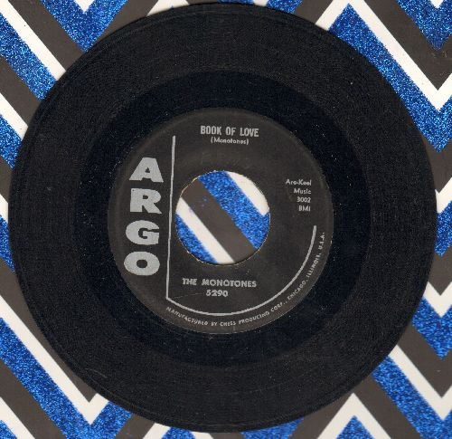 Monotones - Book Of Love/You Never Loved Me (original first issue) - EX8/ - 45 rpm Records
