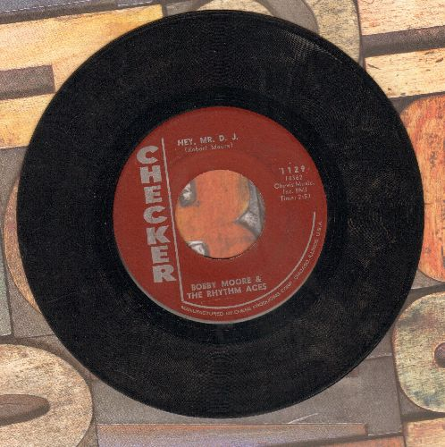 Moore, Bobby & The Rhythm Aces - Hey, Mr. D. J./Searching For My Love - VG7/ - 45 rpm Records