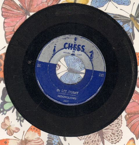 Moonglows - In My Diary/Lover Love Me (EARLY PRESSING blue label, silver top, chess pieces on side of logo) - VG6/ - 45 rpm Records