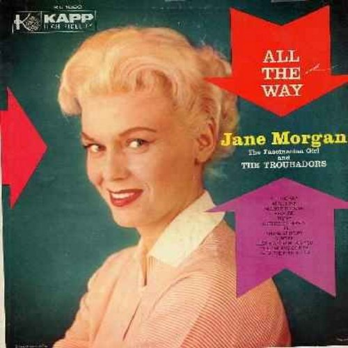 Morgan, Jane - All The Way: April Love, Because, Tammy, Young At Heart, Till The End Of Time, From The First Hello (vinyl LP record) - EX8/VG7 - LP Records