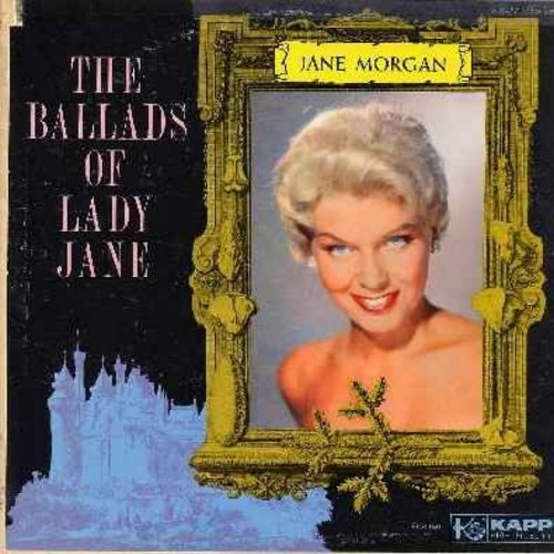 Morgan, Jane - The Ballads Of Lady Jane: Turtle Song, Molly Malone, Kisses Sweeter Than Wine, Scarlet Ribbons, Greensleeves, The Riddle Song (vinyl LP record) - EX8/VG7 - LP Records