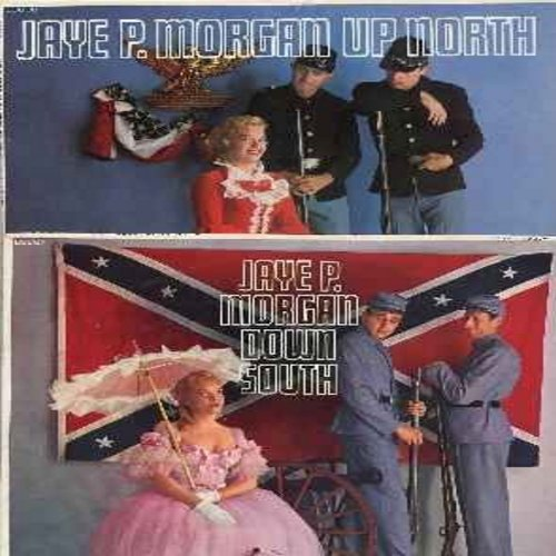Morgan, Jaye P. - Jaye P. Moragn Down South/Jaye P. Morgan Up North: 2 LPs (sold as a set) featuring Great American Folk Songs of the Civil War Era. Songs made popular in both parts of the conflict enriched American Folk Music. These vinyl LP records give