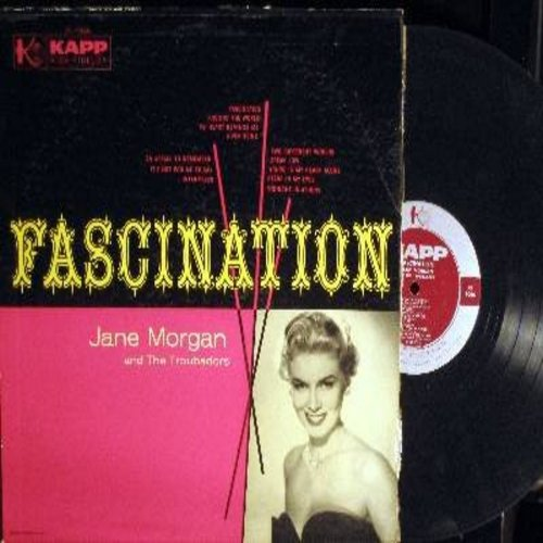 Morgan, Jane - Fascination: An Affair To Remember, It's Not For Me To Say, Speak Low, River Seine, Midnight In Athens (vinyl MONO LP record) - EX8/VG7 - LP Records