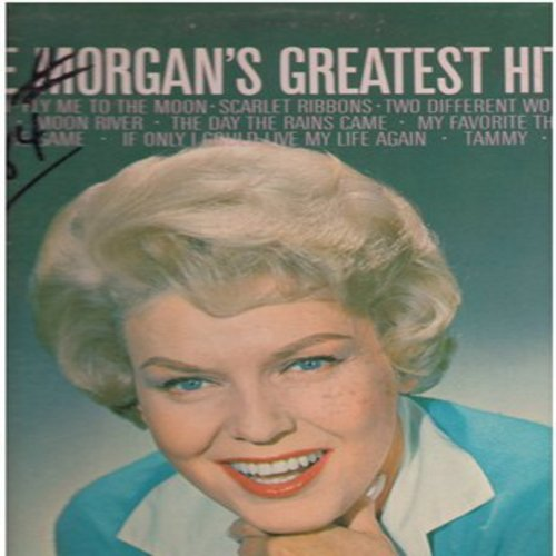 Morgan, Jane - Jane Morgan's Greatest Hits: Fascination, Fly Me To The Moon, Scarlet Ribbons, Moon River, The Day The Rains Came, It's All In The Game, Tammy, Till (vinyl STEREO LP record) - EX8/VG7 - LP Records