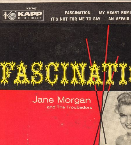 Morgan, Jane - Fascination/My Heart Reminds Me/It's Not For Me To Say/An Affair To Remember (vinyl EP record with picture cover) - M10/EX8 - 45 rpm Records