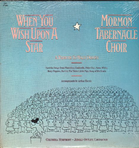 Mormon Tabernacle Choir - When You Wish Upon A Star - A Tribute To Walt Disney (vinyl LP record, SEALED, never opned!) - SEALED/SEALED - LP Records