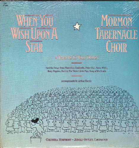 Mormon Tabernacle Choir - When You Wish Upon A Star - A Tribute To Walt Disney (vinyl LP record, SEALED, never opned!) - SEALED/SEALED - LP Records