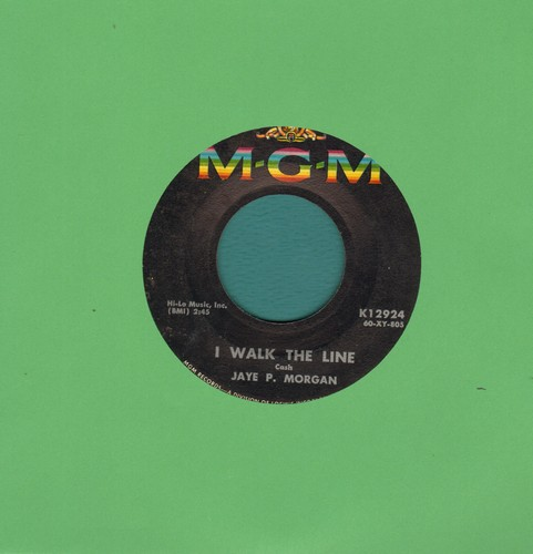 Morgan, Jaye P. - I Walk The Line/Wondering Where You Are  - EX8/ - 45 rpm Records