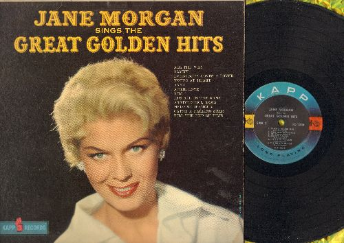 Morgan, Jane - Great Golden Hits: Tammy, April Love, It's All In The Game, Catch A Falling Star, Everybody Loves A Lover, All The Way (vinyl MONO LP record, NICE condition!) - VG7/EX8 - LP Records
