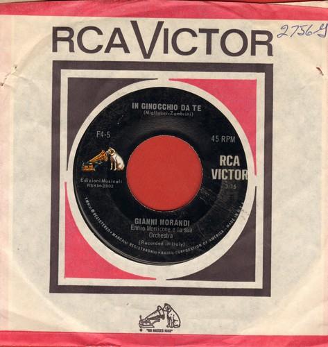 Morandi, Gianni - In Ginocchio Da Te (ULTRA-DREAMY Love Ballad!)/Se Puoi Uscire Una Domenica Sola Con Me (US Pressing, sung in Italian) - EX8/ - 45 rpm Records