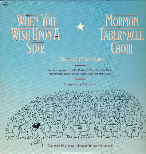 Mormon Tabernacle Choir - When You Wish Upon A Star - A Tribute To Walt Disney (vinyl LP record) - M10/NM9 - LP Records