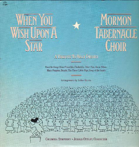 Mormon Tabernacle Choir - When You Wish Upon A Star - A Tribute To Walt Disney (vinyl LP record) - M10/NM9 - LP Records