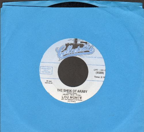 Monte, Lou - The Sheik Of Araby (Italian Style)/Lazy Mary (double-hit re-issue) - NM9/ - 45 rpm Records