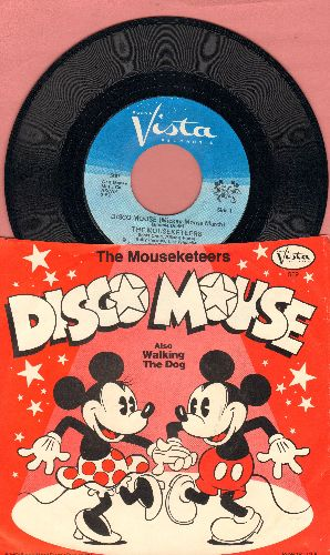 Mouseketeers - Disco Mouse (Mickey Mouse March)/Walking The Dog (with picture sleeve) - NM9/EX8 - 45 rpm Records