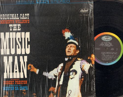 Preston, Robert, Barbara Cook, Eddie Hodges, others - The Music Man - Original Broadway Cast, includes the songs Ya Got Trouble, Seventy-Six Trombones, Till There Was You and Shipoopi (vinyl STEREO LP record, NICE condition!) - NM9/NM9 - LP Records