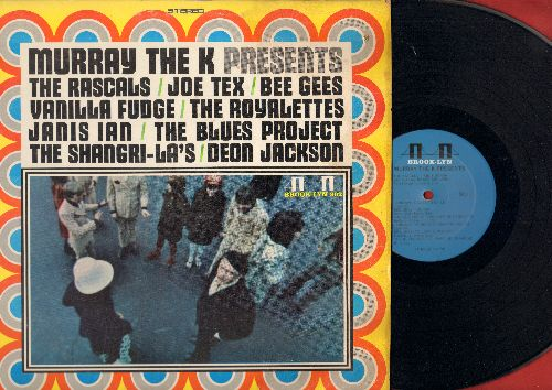 Murray The K - Murray The K Presents: The Rascals, Joe Tex, Bee Gees, Vanilla Fudge, The Royalettes, Janis Ian, The Blues Project, The Sangri-Las, Deon Jackson (Vinyl LP Record) (seam split) - EX8/VG7 - Maxi Singles