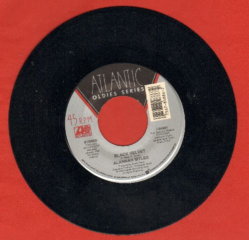 Myles, Alannah - Black Velvet/Love Is (double-hit re-issue) - NM9/ - 45 rpm Records