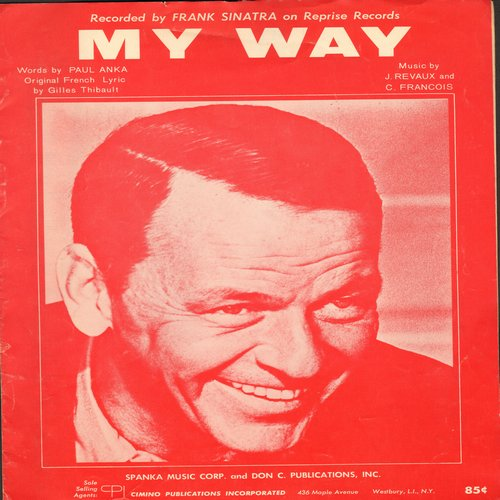 Sinatra, Frank - My Way - SHEET MUSIC for Frank Sinatra's Signature Song, penned by Paul Anka.  (This is SHEET MUSIC, not any other kind of media!) - EX8/ - Sheet Music