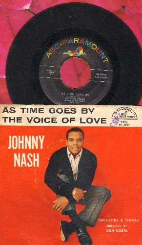 Nash, Johnny - As Time Goes By/The Voice Of Love (with picture sleeve) - VG7/VG7 - 45 rpm Records