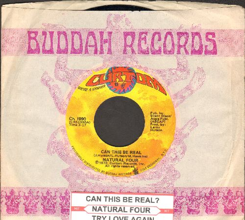 Natural Four - Can This Be Real/Try Love Again (with company sleeve and juke box label) - NM9/ - 45 rpm Records