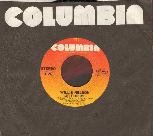 Nelson, Willie - Let It Be Me/Permanently Lonely (with Columbia company sleeve) - NM9/ - 45 rpm Records