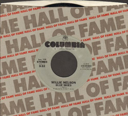 Nelson, Willie - Blue Skies/Georgia On My Mind (When The Candle Lights Are Gleaming) (double-hit re-issue with Columbia company sleeve) - NM9/ - 45 rpm Records