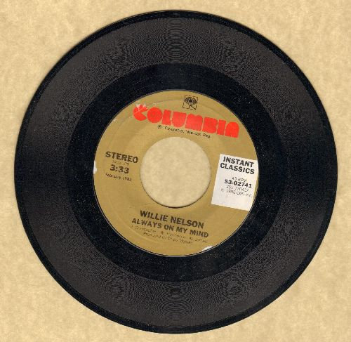 Nelson, Willie - Always On My Mind/The Party's Over (early re-issue) - NM9/ - 45 rpm Records