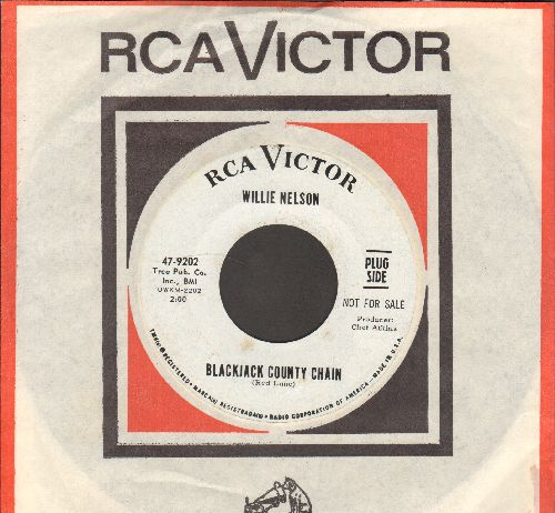 Nelson, Willie - Blackjack County Chain/Some Other World (DJ advance pressing with RCA company sleeve) - EX8/ - 45 rpm Records
