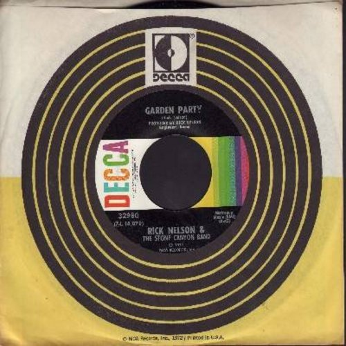 Nelson, Rick - Garden Party/So Long Mama (with Decca company sleeve) - EX8/ - 45 rpm Records