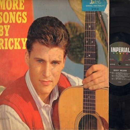 Nelson, Rick - More Songs By Ricky: Here I Go Again, I'm Not Afraid, Ain't Nothin' But Love, Hey Pretty Baby, Again (vinyl MONO LP record, gate-fold cover, NO picture pages) - VG7/VG6 - LP Records