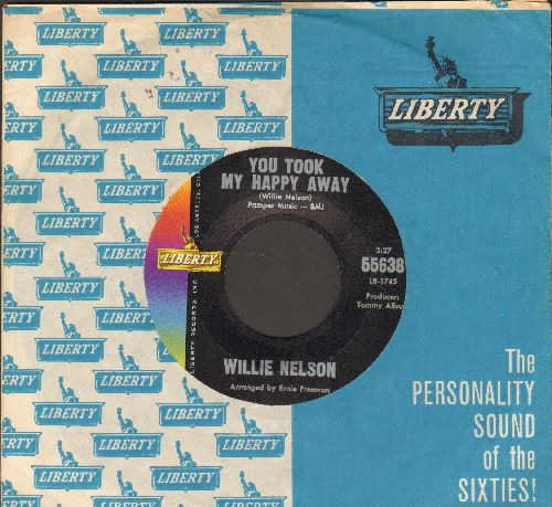 Nelson, Willie - You Took My Happy Away/How Long Is Forever (with vintage Liberty company sleeve) - NM9/ - 45 rpm Records