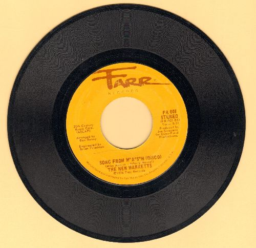 New Marketts - Song From M*A*S*H/Song From M*A*S*H (Disco) - EX8/ - 45 rpm Records