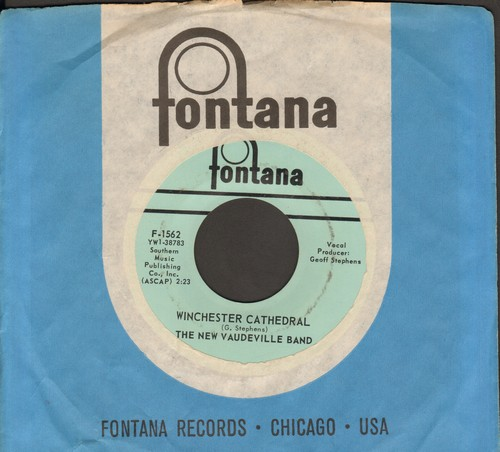 New Vaudeville Band - Winchester Cathedral/Wait For Me Baby (with vintage Fontana company sleeve) - NM9/ - 45 rpm Records