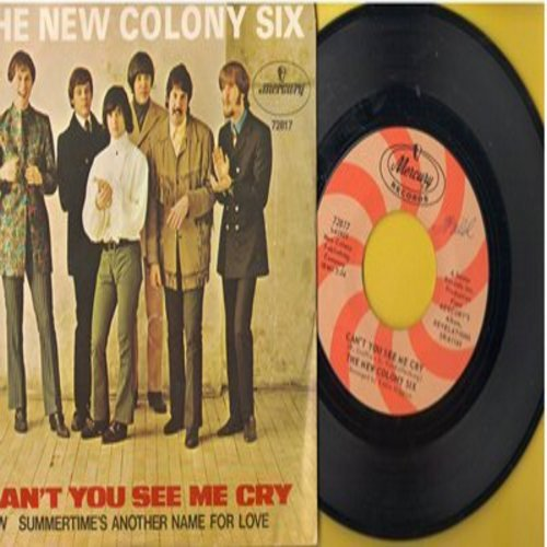 New Colony Six - Can't You See Me Cry/Summertime's Another Name For Love (with picture leeve) (wol) - NM9/NM9 - 45 rpm Records