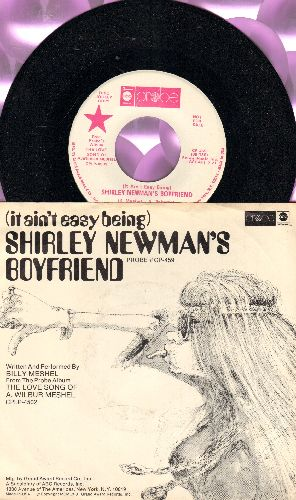 Meshel, Billy - (It Ain't Easy Being) Shirley Newman's Boyfriend/I Say Hello When I'm Leaving (RAE DJ pressing with picture sleeve) - NM9/EX8 - 45 rpm Records