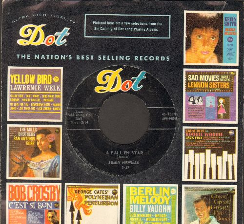 Newman, Jimmy - A Fallen Star/I Can't Go On This Way (with Dot company sleeve) - EX8/ - 45 rpm Records