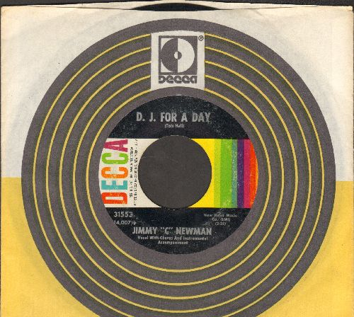 Newman, Jimmy C - D. J. For A Day/The Mover (with Decca company sleeve) - VG7/ - 45 rpm Records