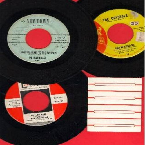 Blue Belles, Crystals, Chiffons - Vintage Girl-Groups 3-Pack: First issue 45s in very good or better condition. Hits include I Sold My Heart To The Junkman, He's So Fine and Then He Kissed Me. NICE set for a Juke Box or to add to a collection! Shipped in