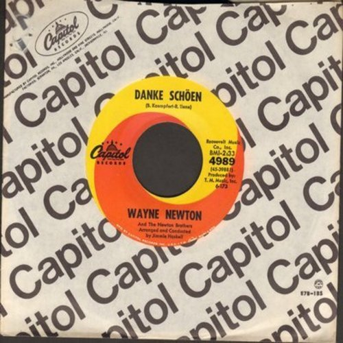 Newton, Wayne - Danke Schoen (Wayne Newton's Vegas SIGNATURE SONG!)/Better Now Than Later (with Capitol company sleeve) - NM9/ - 45 rpm Records
