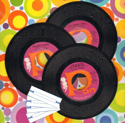 New Yorkers - 3-Pack of first issue 45s includes hits Jingle Jangle Jingle Polka/Pistol Packin Mama Polka/Don't Let The Stars Get In Your Eyes Polka. Shipped in plain white paper sleeves with 4 blank juke box labels. - NM9/ - 45 rpm Records
