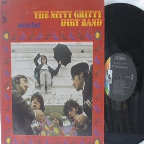 Nitty Gritty Dirt Band - Ricochet: The Teddy Bear's Picnic (FANTASTIC Psychedelic version of the Classic Novelty), Happy Fat Annie, Ooh Po Pe Do Girl, It's Raining Here In Long Beach (vinyl STEREO LP record) - NM9/EX8 - LP Records