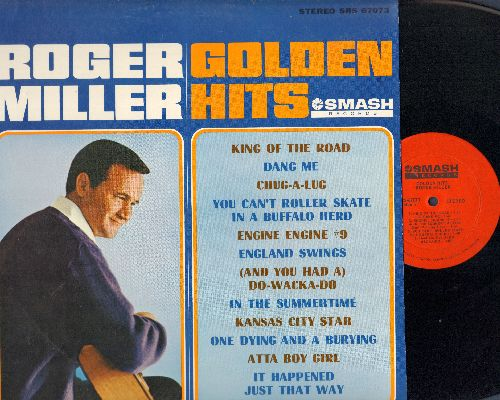 Miller, Roger - Golden Hits: King Of The Road, Engine #9, In The Summertime, You Can't Roller Skate In A Buffalo Herd, England Swings (vinyl STEREO LP record, NICE condition!) - M10/NM9 - LP Records