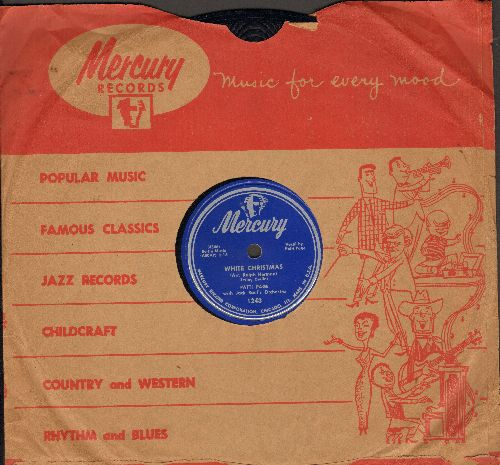 Page, Patti - White Christman/The First Noel (RARE 10 inch 78 rpm record with Mercury company sleeve) - EX8/ - 78 rpm