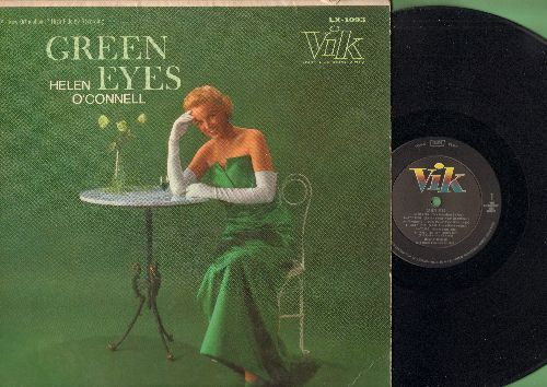 O'Connell, Helen - Green Eyes: Star Eyes, Tangerine, All Of Me, Embraceable You, Brazil (vinyl MONO LP record, tape on cover) - NM9/VG7 - LP Records
