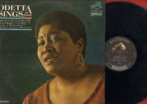 Odetta - Odetta Sings Of Many Things: Froffy Went A-Courtin',Katy Cruel, Sun's Comin' Up, Deportee, Four Marys (vinyl MONO LP record) - NM9/EX8 - LP Records