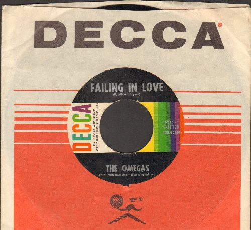 Omegas - Failing In Love/No One Will Ever Know (with vintage Decca company sleeve) - NM9/ - 45 rpm Records